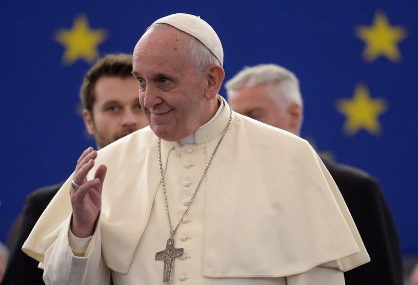 Papież Franciszek w Parlamencie Europejskim /AFP