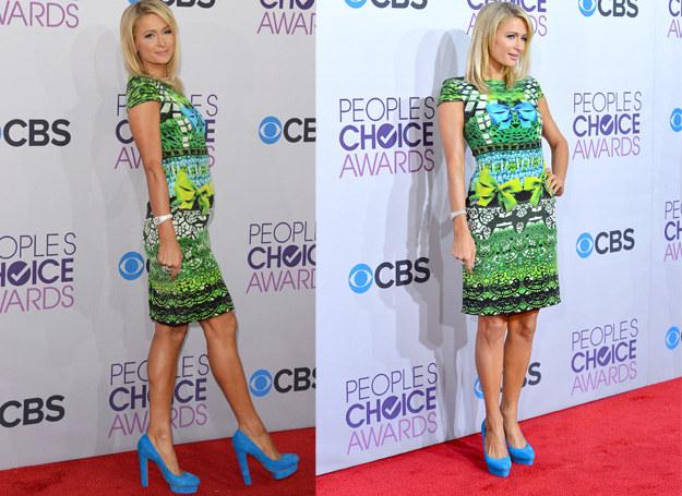 Paris Hilton jest fanką butów na platformie /Getty Images