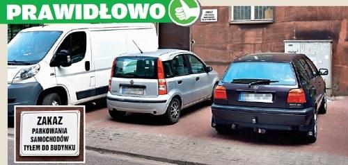 parkowanie tyłem do budynku /Motor