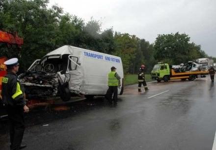 Pasażer fiata ducato z detalami opowiada o wypadku, fot. S. Królikowski /Agencja SE/East News