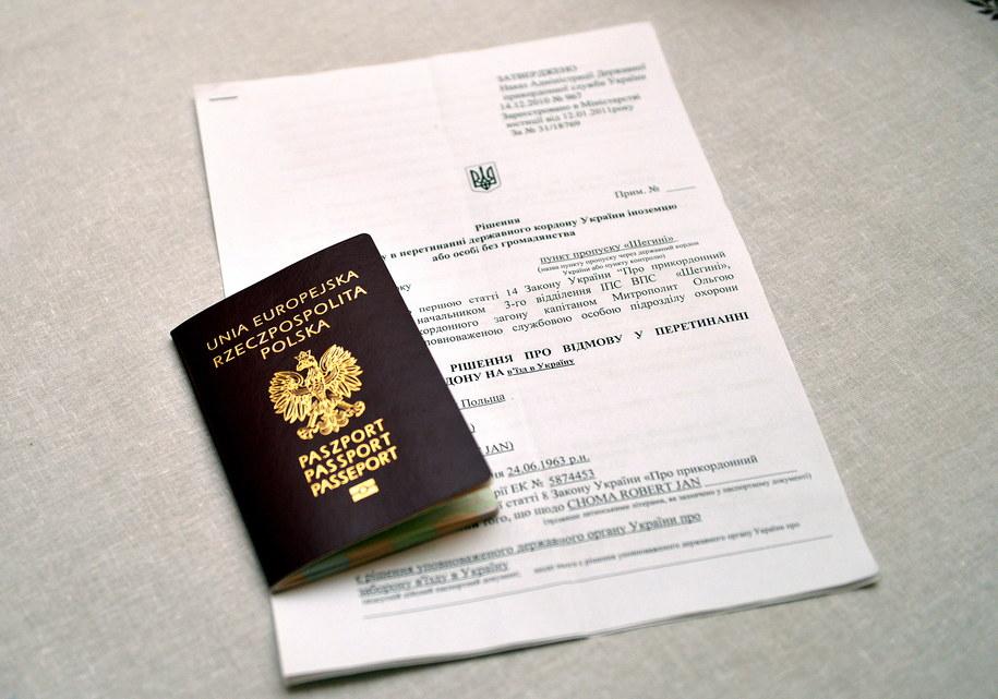 Paszport prezydenta Przemyśla Roberta Chomy i decyzja Służby Bezpieczeństwa Ukrainy /Darek Delmanowicz /PAP