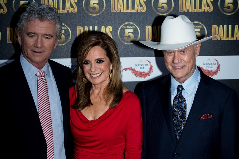 Patrick Duffy, Linda Grey, Larry Hagman /Ian Gavan /Getty Images