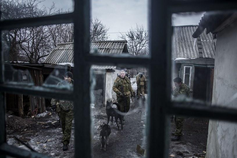 Patrol prorosyjskich separatystów w pobliżu Debalcewa, zdjęcie ilustracyjne /AFP