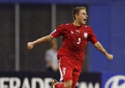 Patryk Małecki zdobył gola dla naszej młodzieżówki. /AFP