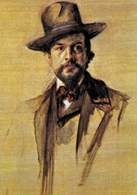 Paul Robier, portret Claude'a Debussy'ego /Encyklopedia Internautica