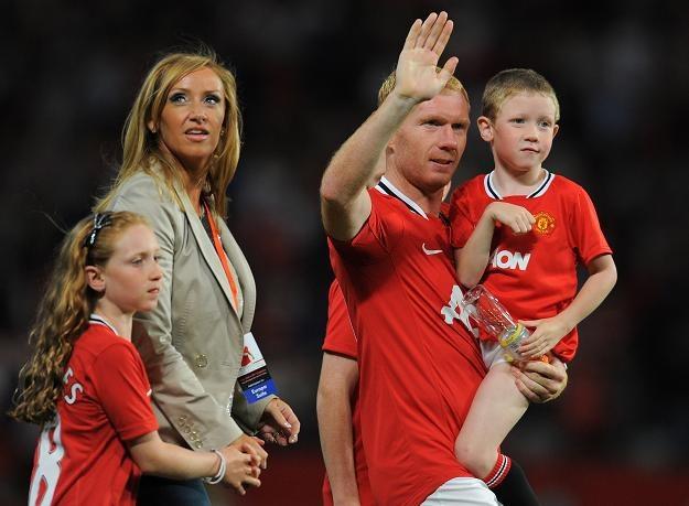 Paul Scholes żegna się z Manchesterem United /AFP