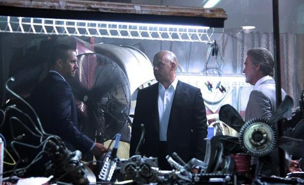 """Paul Walker, Vin Diesel i Kurt Russell na planie filmu """"Szybcy i wściekli 7"""" /materiały prasowe"""