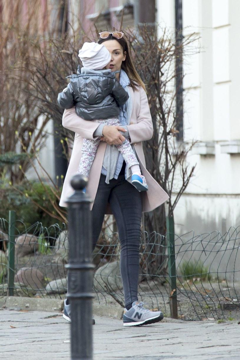 Paulina Krupińska z córką /- /Foto IP