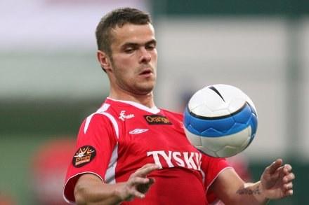 Paweł Brożek - bohater meczu w Krakowie/Fot: Tomasz Markowski /Agencja Przegląd Sportowy