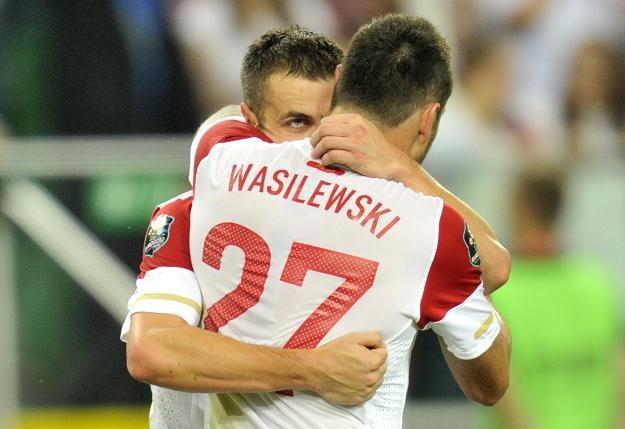 Paweł Brożek i Marcin Wasilewski /AFP