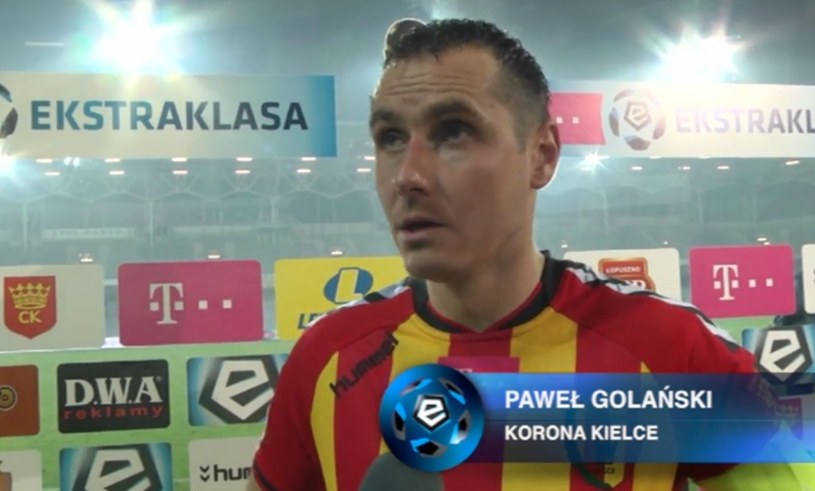 Paweł Golański, kapitan Korony Kielce. /INTERIA.PL