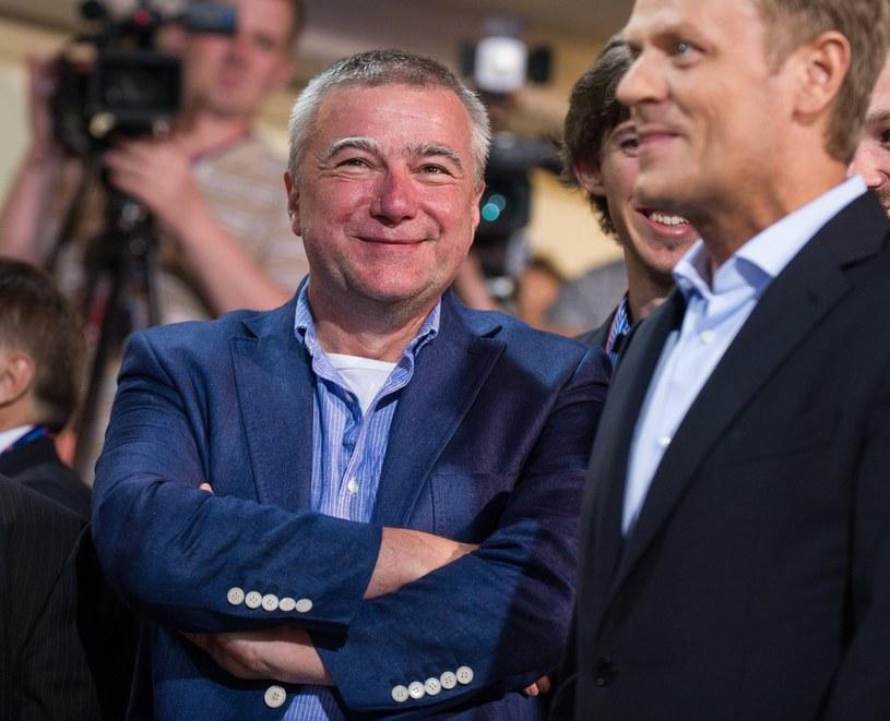 Paweł Graś i Donald Tusk /Bartosz Krupa /East News