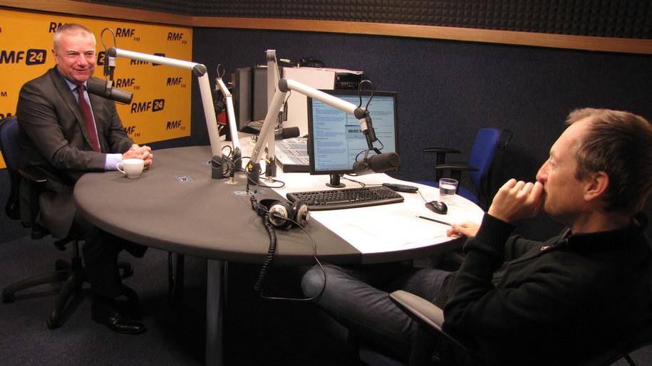 Paweł Graś i Konrad Piasecki /Magdalena Jednacz /RMF FM