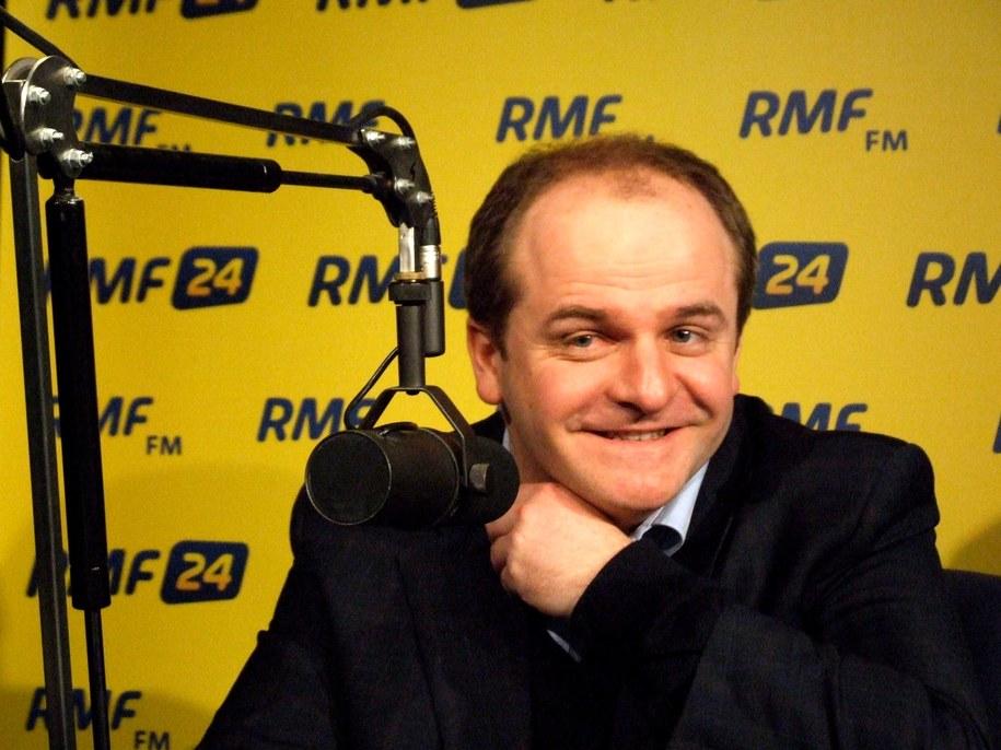 Paweł Kowal w warszawskim studiu RMF FM.  /Fot. Olga Wasilewska /RMF FM