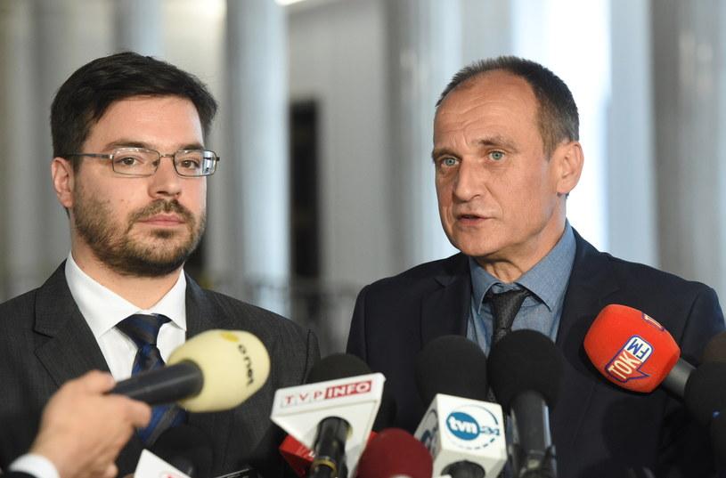 Paweł Kukiz i Stanisław Tyszka /Radek Pietruszka /PAP