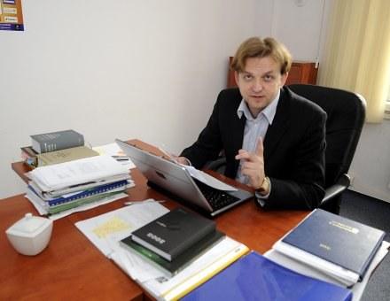 Paweł Nogal oczekuje wprowadzenia kuratora do PZPN-u. Fot. Krystyna Paczkowska. /Agencja Przegląd Sportowy