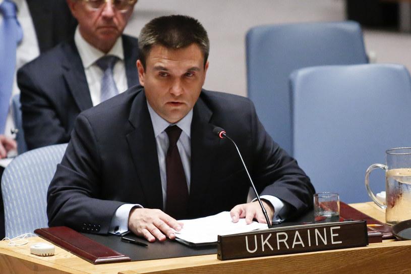 Pawło Klimkin na posiedzeniu ONZ /AFP