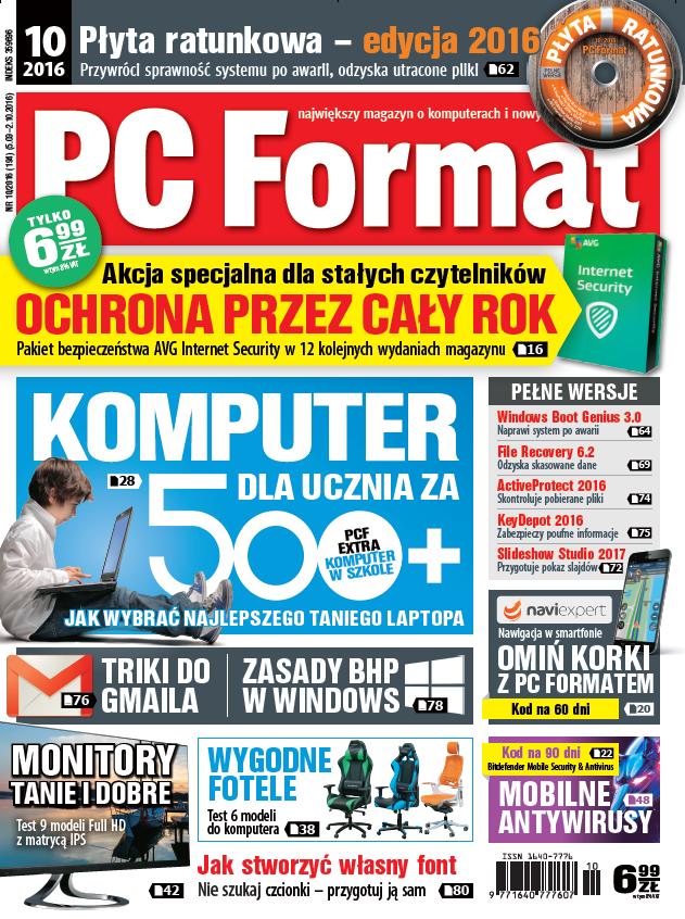 PC Format 10/2016 - w kioskach od 5 września /PC Format
