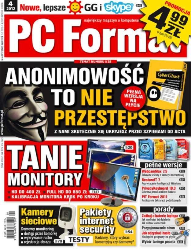 """""""PC Format"""" 4/2012 w sprzedaży od 5 marca /PC Format"""