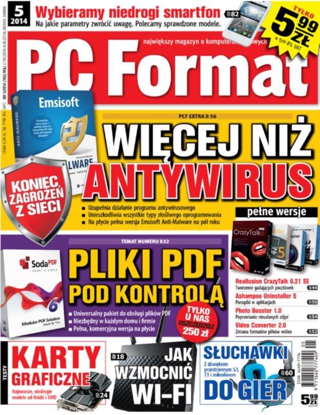 PC Format 5/2014 - w kioskach od 7 kwietnia 2014 roku /materiały prasowe