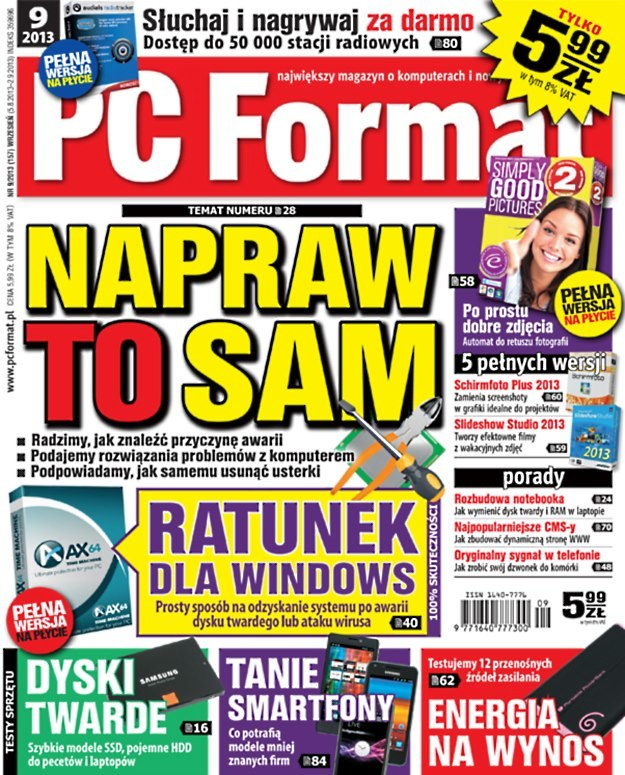 PC Format 9/2013 - w kioskach od 5 sierpnia /materiały prasowe