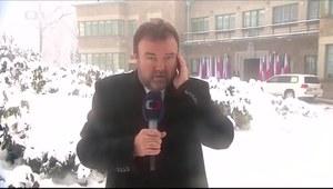 Pech korespondenta czeskiej telewizji