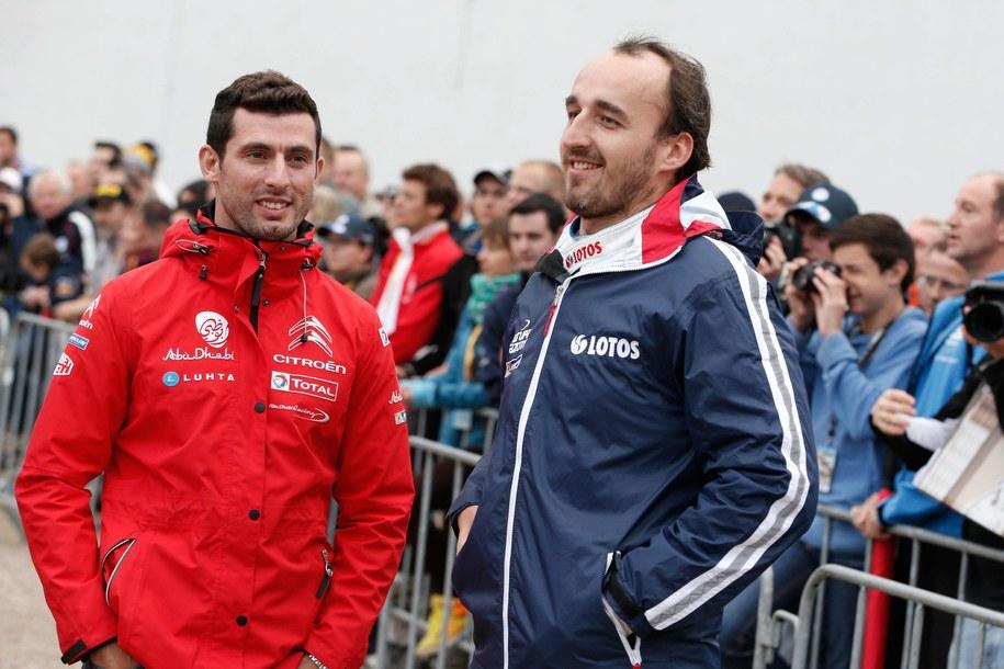 Pechito Lopez i Robert Kubica podczas Rajdu Niemiec /Panoramic  /PAP