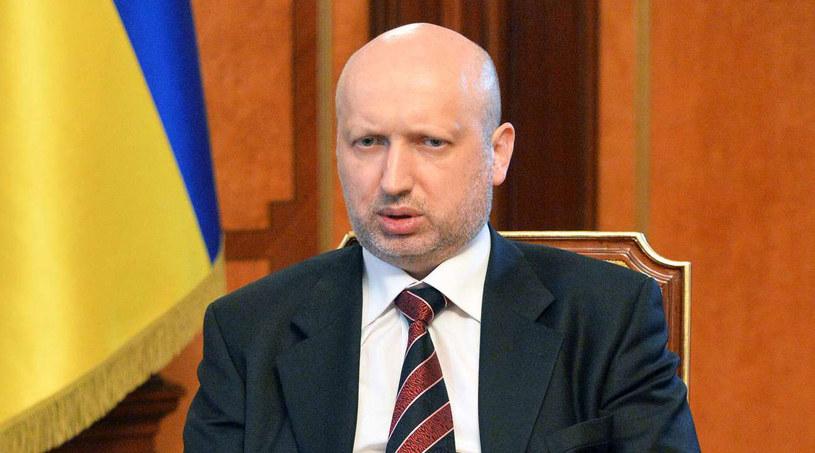 Pełniący obowiązki prezydenta Ukrainy Ołeksandr Turczynow. /AFP