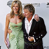Penny Lancaster i Rod Stewart /AFP