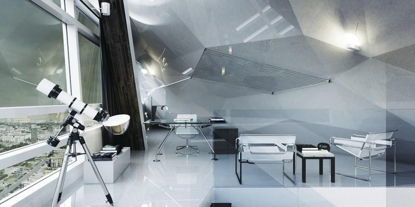 Penthouse w stylu minimalistycznym w wieżowcu Złota 44 w Warszawie. Projekt koncepcyjny. /Styl.pl/materiały prasowe