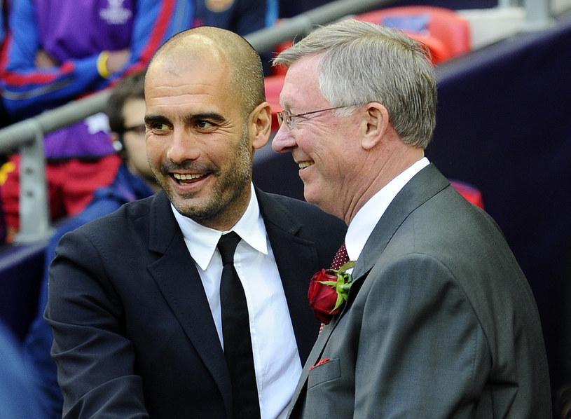Pep Guardiola i Alex Ferguson /AFP