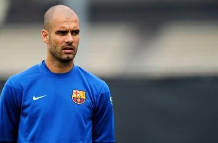 Pep Guardiola na treningu Barcelony /AFP