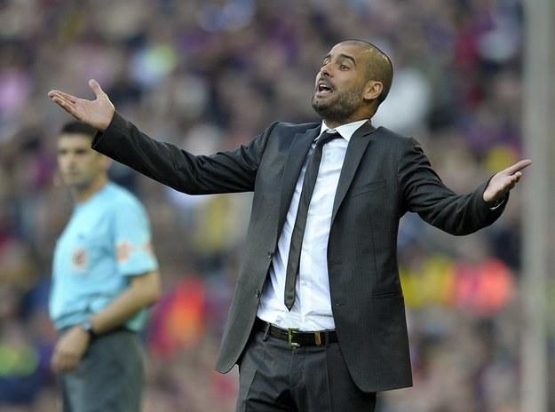 Pep Guardiola, trener Barcelony /AFP