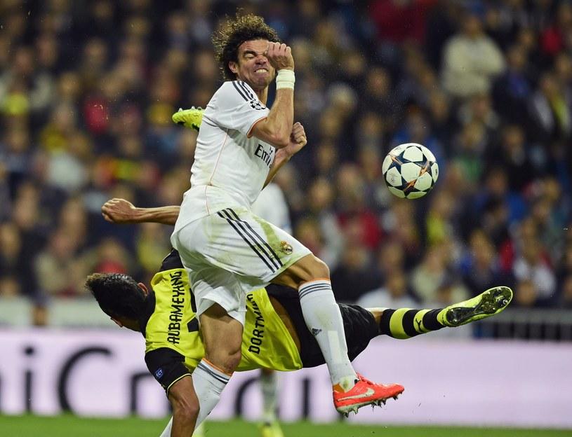 Pepe w akcji podczas meczu z Borussią Dortmund /AFP