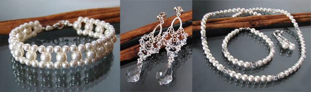 Perły są klasycznym dodatkiem ślubnym /Fasson / biżuteria ARTEO bijou /abcslubu.pl