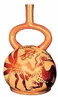 Peru, waza z okresu kultury Mochica /Encyklopedia Internautica