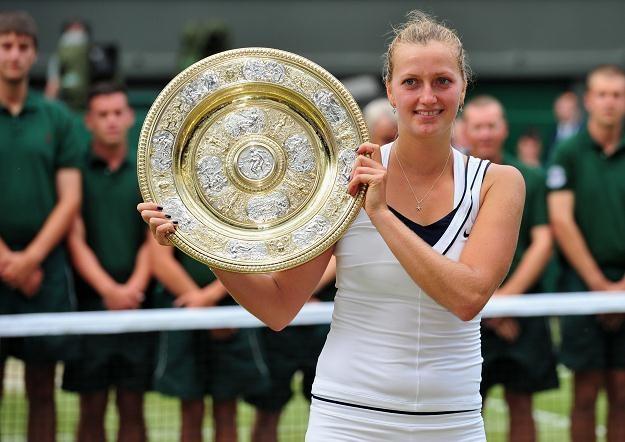 Petra Kvitova - niespodziewana triumfatorka Wimbledonu /AFP