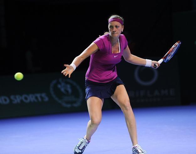 Petra Kvitova wywalczyła już sobie awans do półfinału /AFP