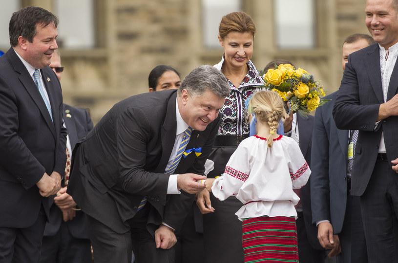 Petro Poroszenko gościł w Kanadzie /AFP