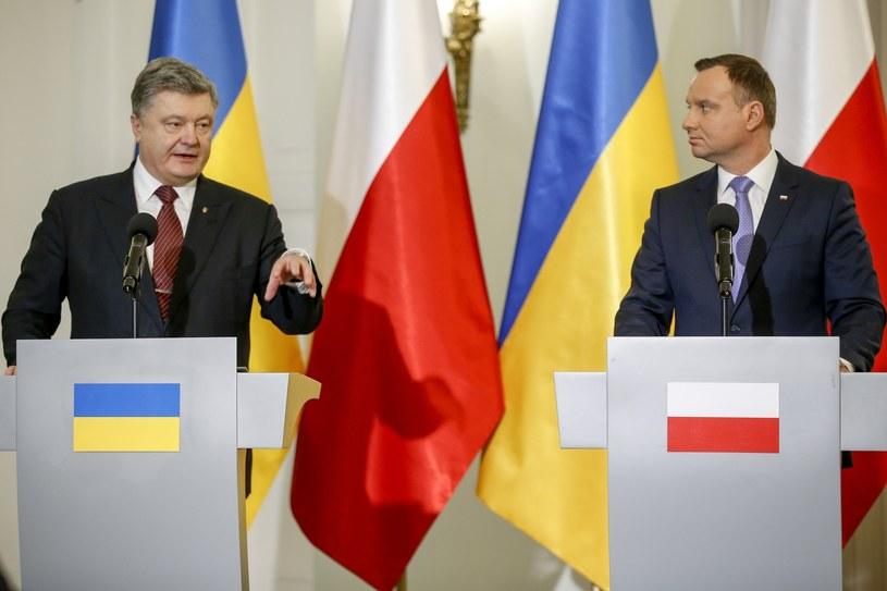 Petro Poroszenko i Andrzej Duda /fot. Andrzej Iwanczuk /Reporter
