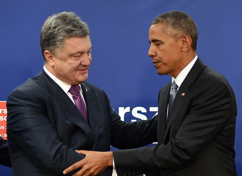 Petro Poroszenko i Barack Obama /AFP