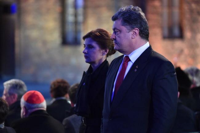 Petro Poroszenko i jego żona, Maryna /PAP/Jacek Bednarczyk /PAP