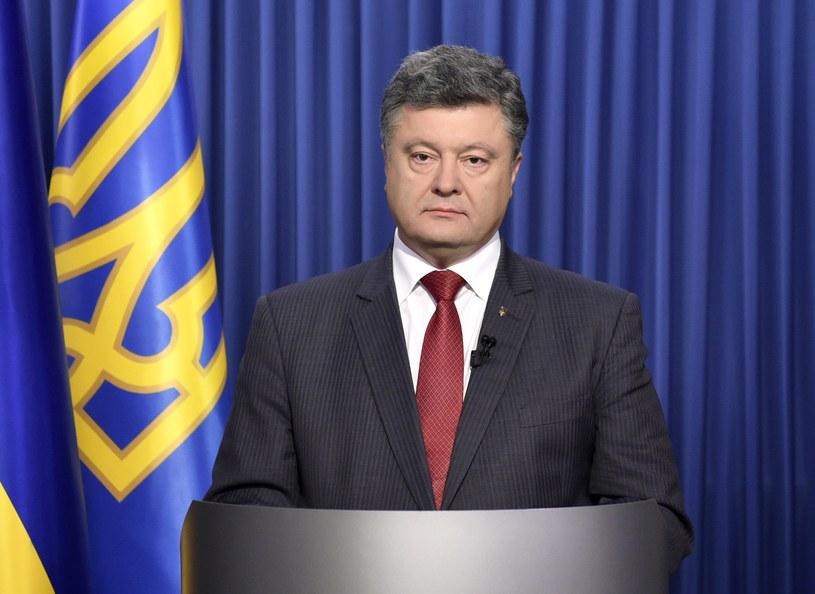 """Petro Poroszenko: """"Powinniśmy mieć możliwość obrony"""" /AFP"""