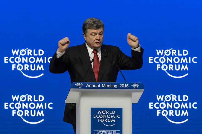 Petro Poroszenko w czasie Światowego Forum Gospodarczego /FABRICE COFFRINI /AFP