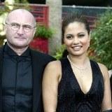 Phil Collins z żoną Orianne /arch. AFP
