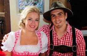 Philipp Lahm z żoną Claudią