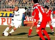 Piacenza - Inter 2:3. Ronaldo w akcji ofensywnej