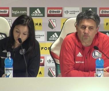 Piast - Legia. Trener Romeo Jozak przed meczem. Wideo