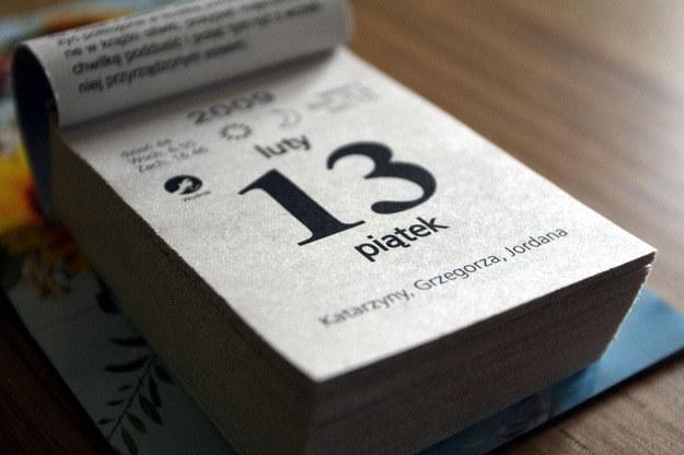 Piątek trzynastego w 2015 roku w kalendarzu pojawia się trzy razy. /Piotr Polak /PAP