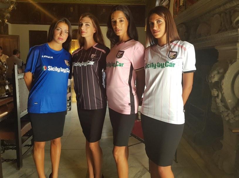 Piękne modelki w koszulkach US Palermo /printscreen/Twitter /